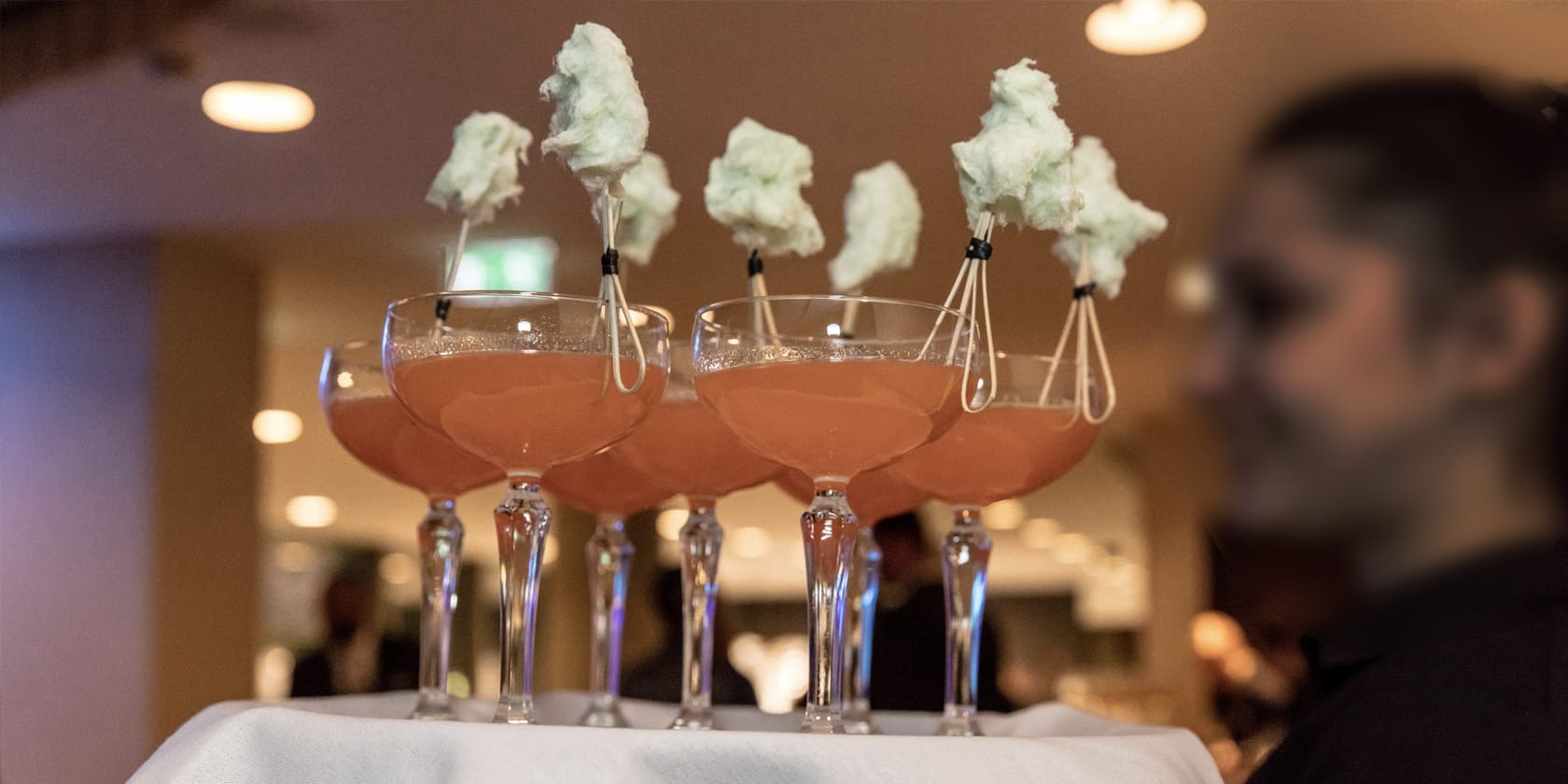 Candyfloss cocktails.